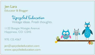 Upcycled Education Free Business Cards