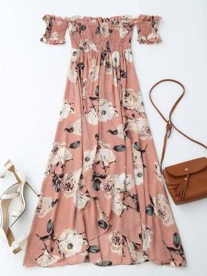 https://www.zaful.com/off-shoulder-shirred-slit-floral-maxi-dress-p_278540.html