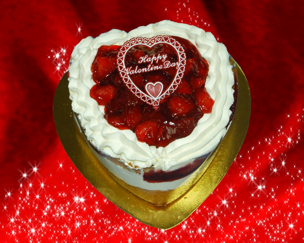 Valentine's Day Heart Shaped Cake