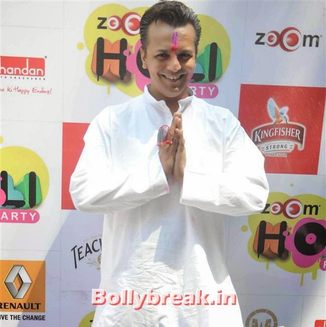 Imam Siddique, Sunny, Tanisha, Poonam & Kainaat at Zoom Holi Party 2014