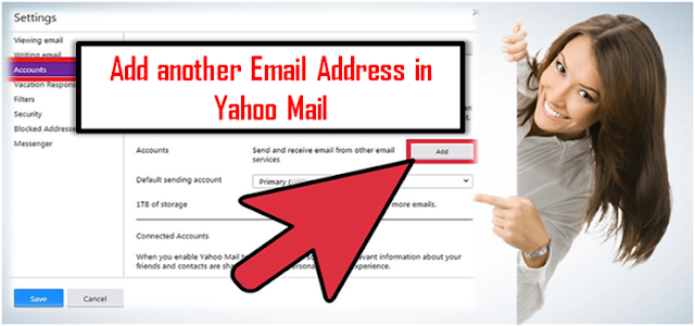 Add another email address in yahoo