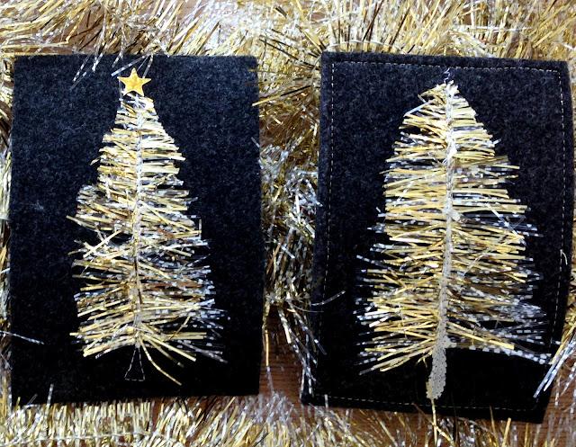 mit Strich und Faden: Weihnachtskarte nähen