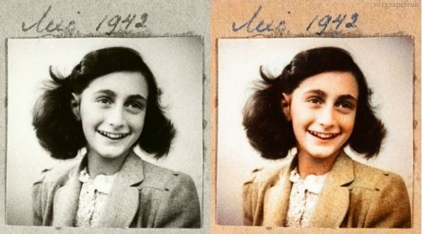 28 Realistically Colorized Historical Photos Make the Past Seem Incredibly Alive - Anne Frank, 1942
