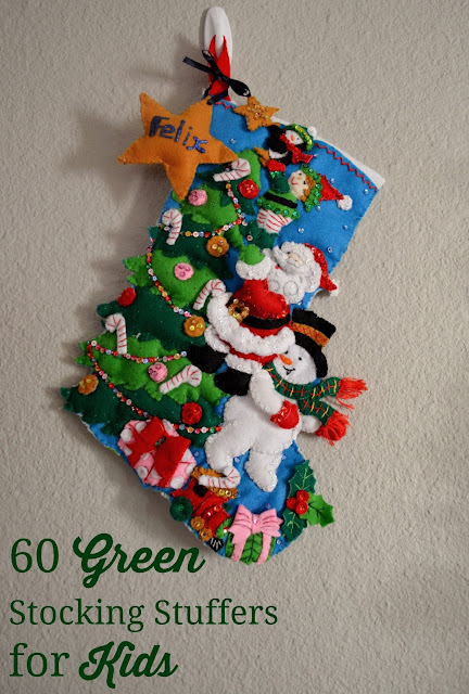 green or eco-friendly stocking stuffers for kids children stocking
