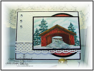 Our Daily Bread Designs, Safe Travels, Beautiful Borders, Double Stitched Rectangles, Double Stitched Circles, Rectangles, Bogo Background dies, Christmas 2015 Paper Collection, designed by Chris Olsen
