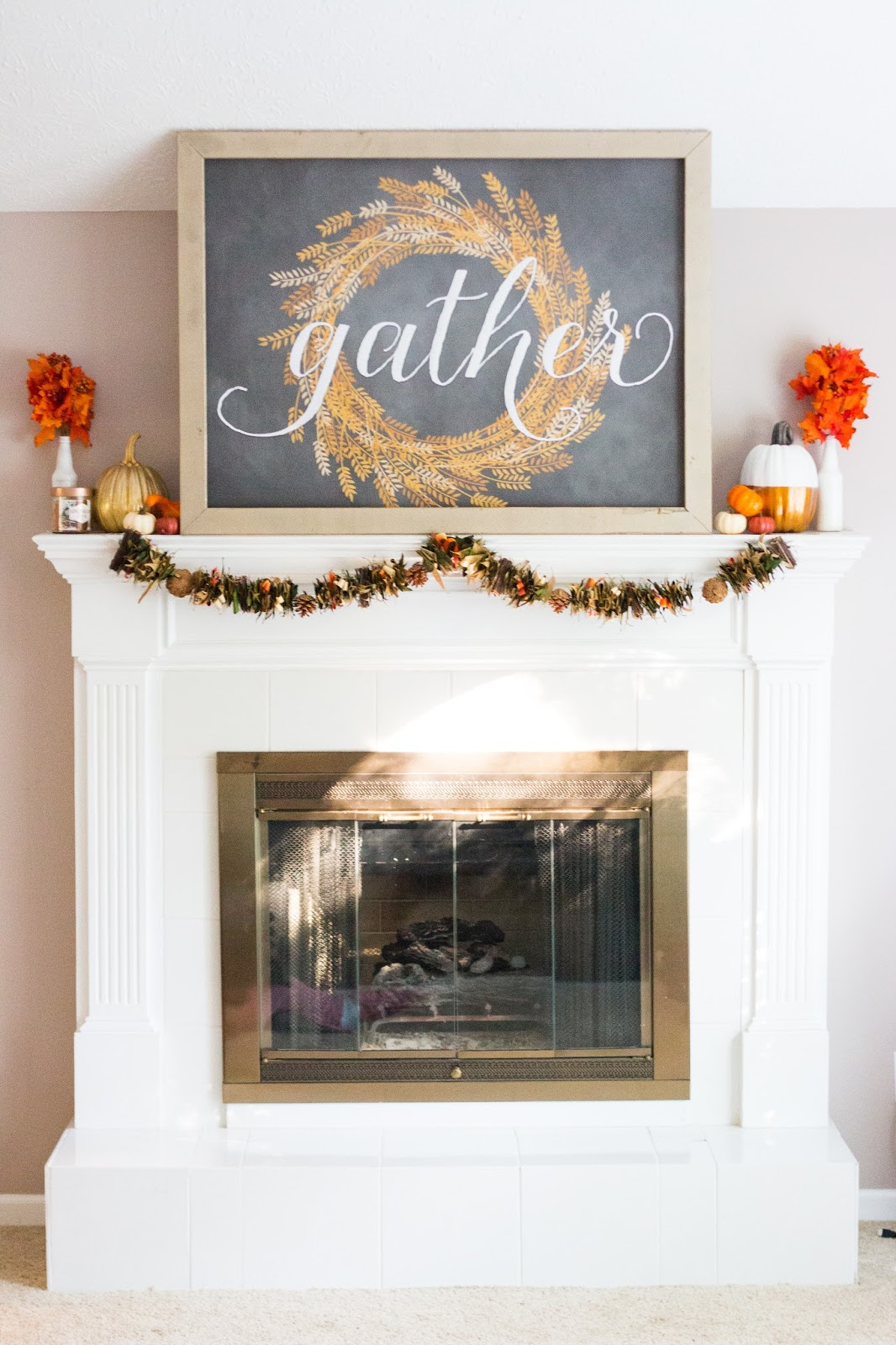 Fall Mantle Decor 2016 The Happy Flammily