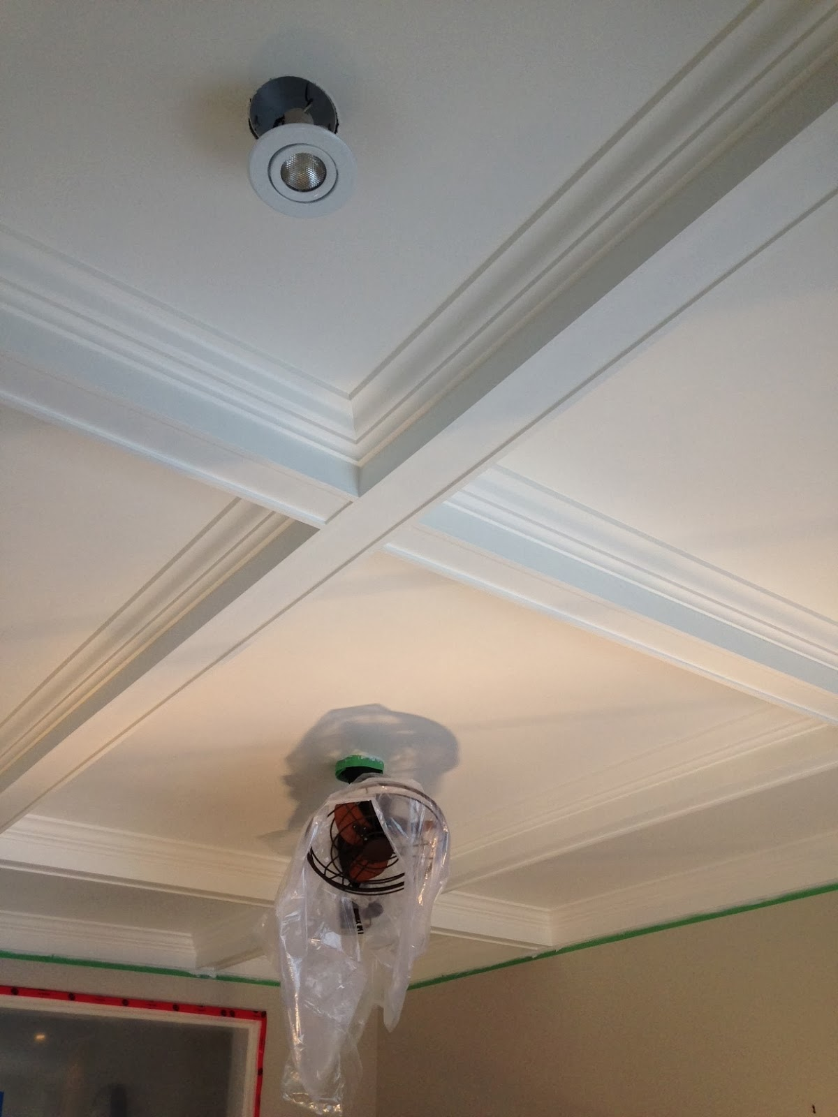 Happy news to share...the coffered ceiling is finished and I mean finished