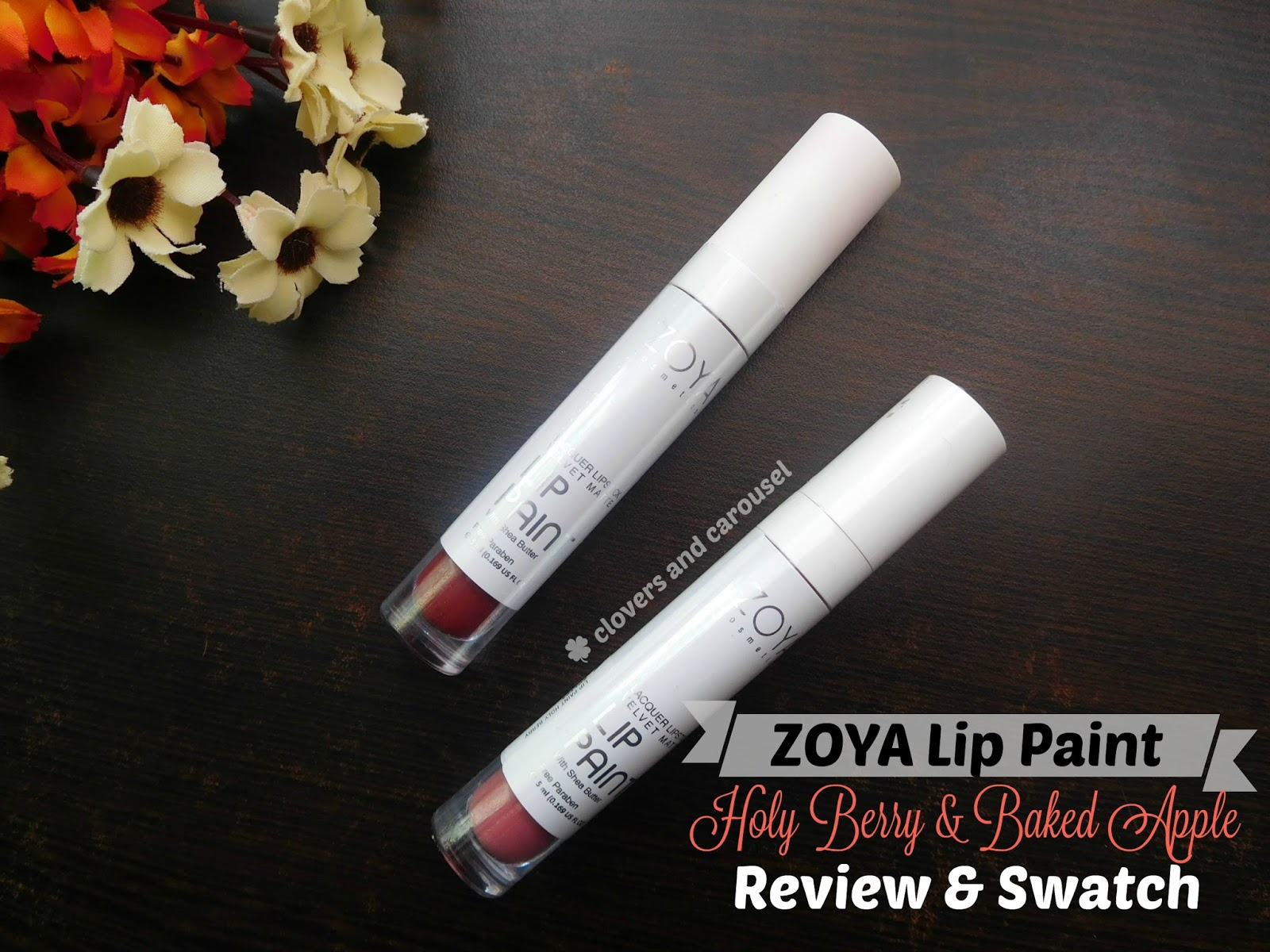 Clovers And Carousel Zoya Lip Paint Lacquer Lipstick Velvet Matte Review Swatch