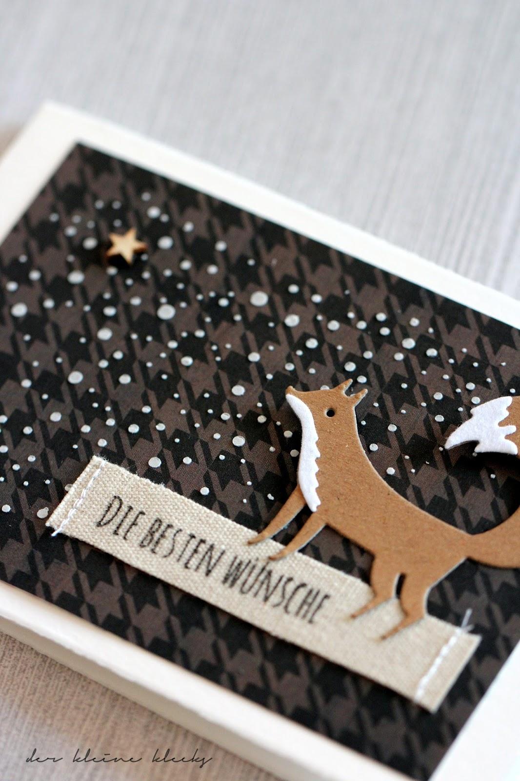 Der Kleine Klecks Weihnachtsfuchs Im Schnee