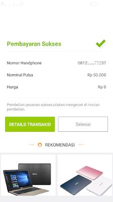 Pulsa Gratis Telkomsel dari Aplikasi Akulaku Android