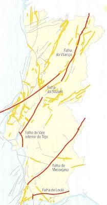 mapa falhas sismicas portugal Santa Comba da Vilariça mapa falhas sismicas portugal