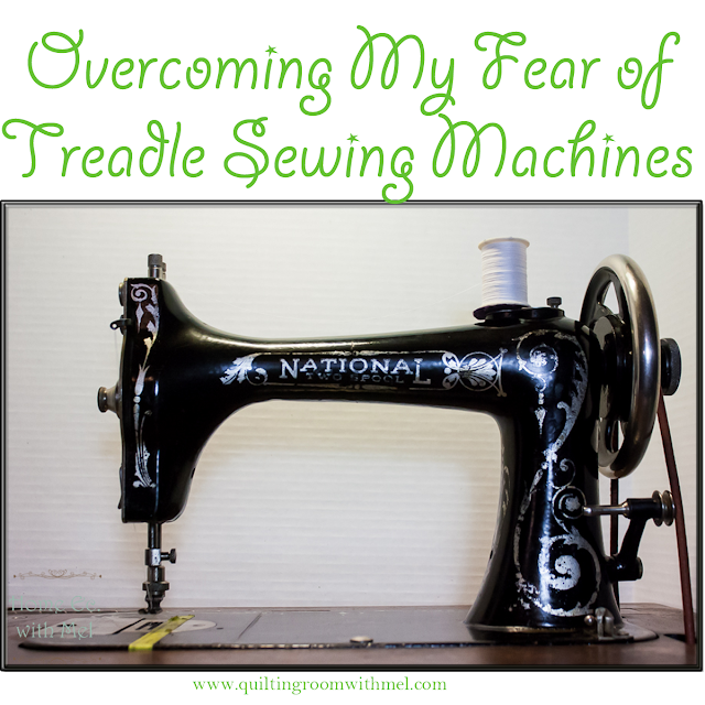 overcoming treadle sewing machine fears