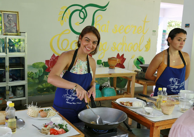 Thai Secret Cooking Class Photos. March 12-2017. Pa Phai, San Sai District, Chiang Mai, Thailand.
