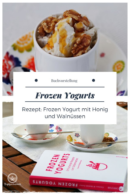 {Buchwerbung} Frozen Yogurts mit Rezept für Frozen Yogurt mit Honig und Walnüssen #frozenyogurts #frozenyogurtsmithonigundwalnüssen #frozenyogurtsselbstgemacht #buchrezension #eiskochbuch #kochbuch #gefrorenesjoghurt #gesundeseis #alternativezueis - Foodblog Topfgartenwelt