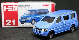 Tomica - 21 Honda Stepwgn, 紙盒裝