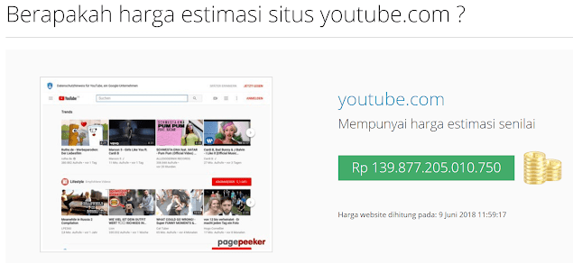 Harga Youtube