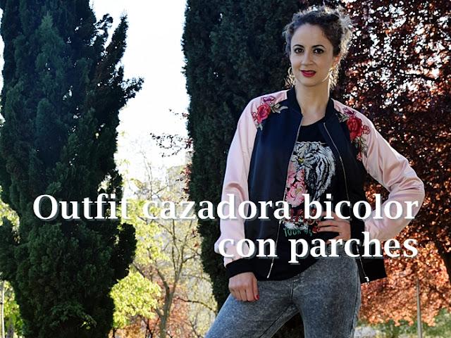 Outfit-cazadora-bicolor-parches-1