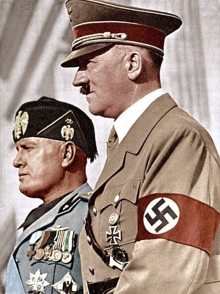 Hitler and Mussolini Color Photos World War II worldwartwo.filminspector.com