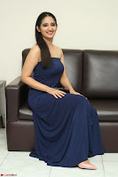 Radhika Mehrotra in sleevless Strap less Blue Gown At Prema Entha Madhuram Priyuraalu Antha Katinam Movie Interview ~  Exclusive 013.JPG
