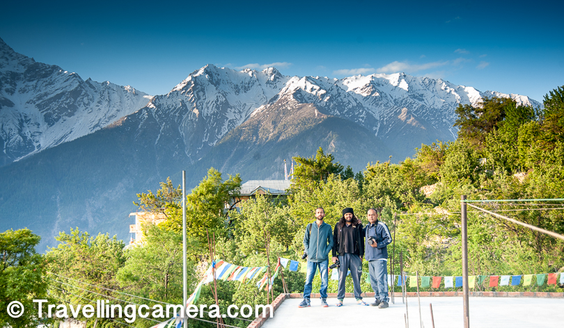 Fellow travellers on roof-top of the hotel. Kalpa is extremely beautiful place surrounded by green apple orchards and snow capped mountains on one side. Along with this natural beauty, Kalpa has strong heritage. If you look around, you would find lot of tourists at Kalpa and there is very high probability that you would hear bengali language on the streets. And don't be surprised if you see restaurant menu in Bengali. Interestingly lot of Bengali tourists visit Kalpa and hotels here take best care of them. In fact, there are lot of folks from West Bengal who are running hotels in Kalpa.