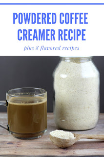 How to make a healthy coffee creamer.  This DIY healthy coffee creamer tastes great and is easy to use.  I used coconut sugar in my coconut coffee creamer and added coconut oil for a creamy flavor.  There are also 8 homemade flavored coffee creamer recipes.  Learn how to make homemade powdered coffee creamer with these coffee creamer recipes.  This homemade coffee creamer recipe has no refined sugar, but it tastes great.  #coffeecreamer #creamer #creamerrecipe