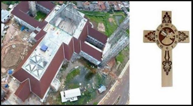 masjid daan mogot mirip salib