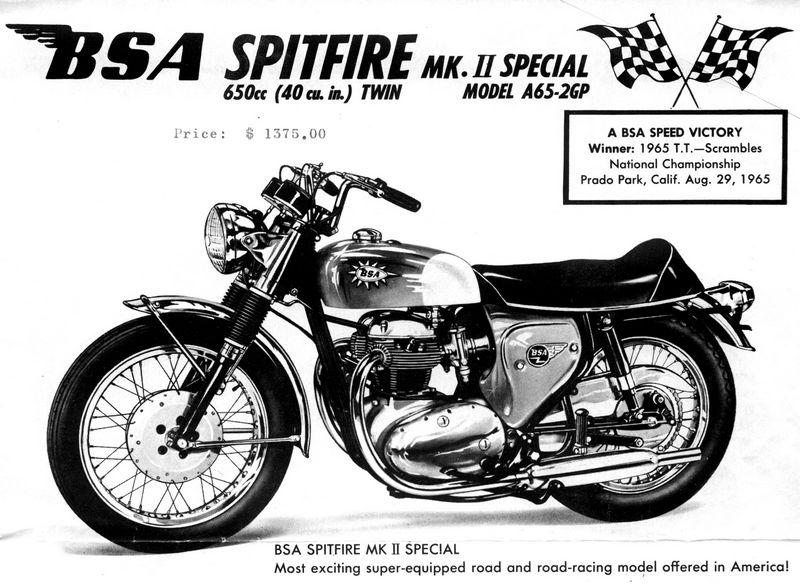 Team Thruxton: Pub BSA Spitfire & Lightning...