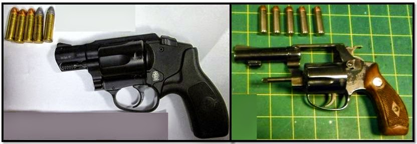 Firearms discovered in carry-on bags at:ORF & LAS