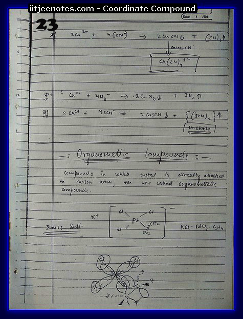 Co-Ordinate Compound Notes8