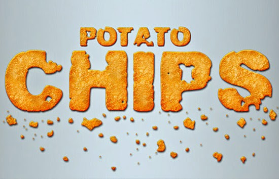 09. POTATO CHIPS TEXT EFFECT