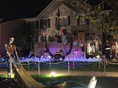 Pirate Halloween scene in Carol Stream, Illinois