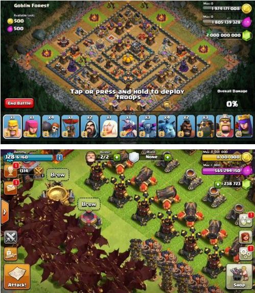 Download Clash of Clans Mega Mod Apk Unlimited Gems, Gold and Elixir New Update