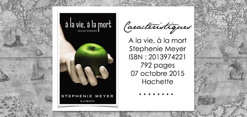 Couverture du livre Twilight à la vie à la mort de Stephenie Meyer