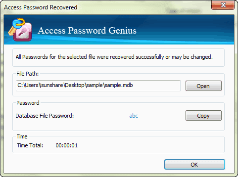 recover office access file password