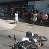 Queda de moto na avenida Dr. João Medeiros Filho a altura da COMJOL