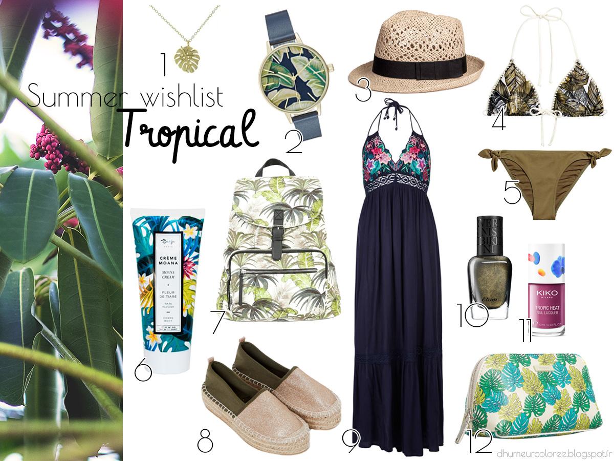Summer wishlist 2017 tropical style