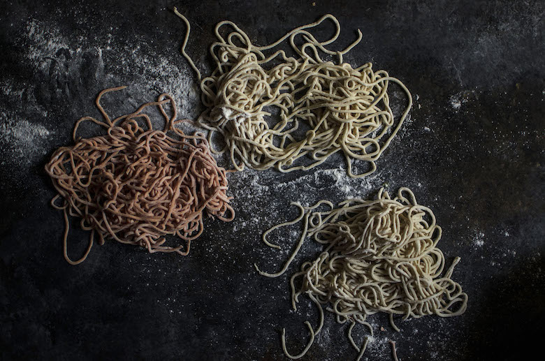 Homemade ramen noodle