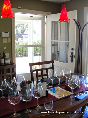 Sojourn Cellars Tasting Salon set-up in Sonoma Wine Country