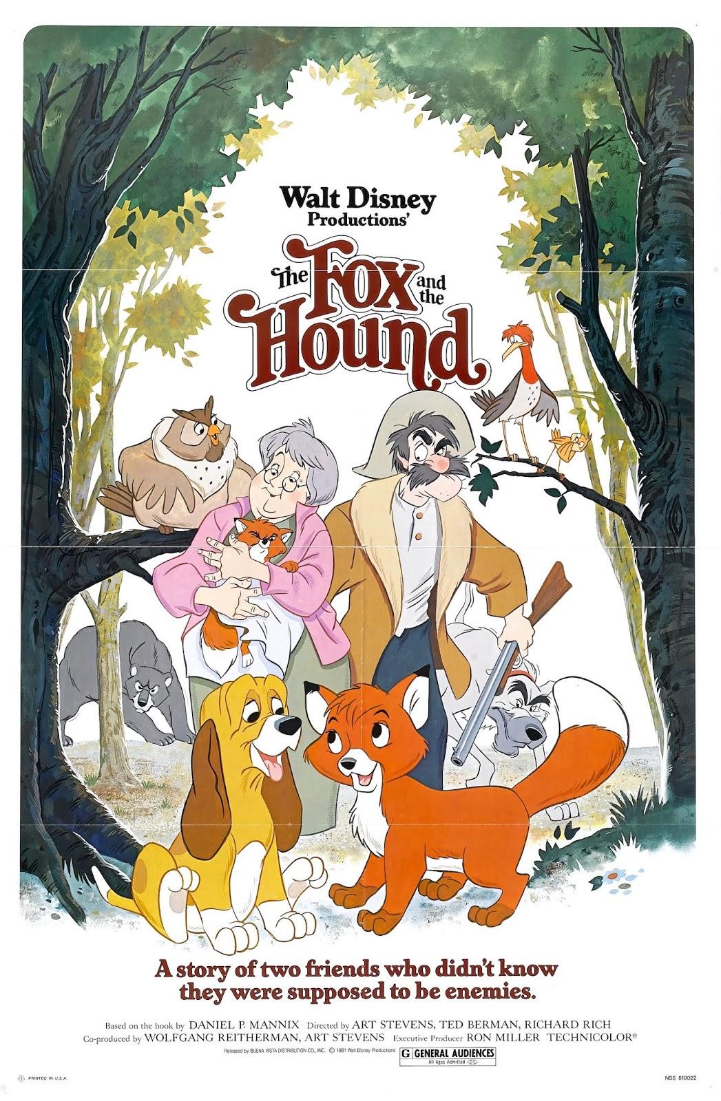 ディズニー映画 感想】きつねと猟犬 ~隠れた名作が隠れた名作である理由
