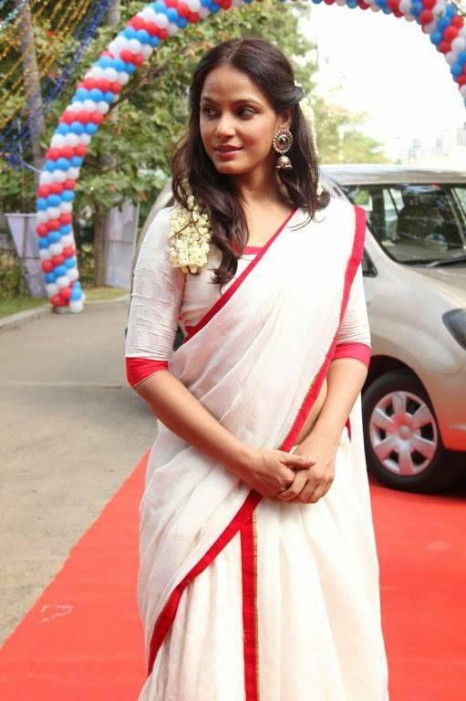 Neetu Chandra Latest Hot Stills In White Saree