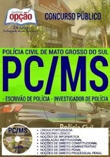 Apostila PC-MS 2017 Escrivão de Policia e Investigador de Polícia