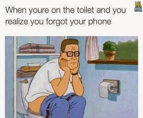 when you in the toilet affter you forgot your phone - funny behaviour picture