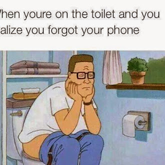 when you in the toilet affter you forgot your phone