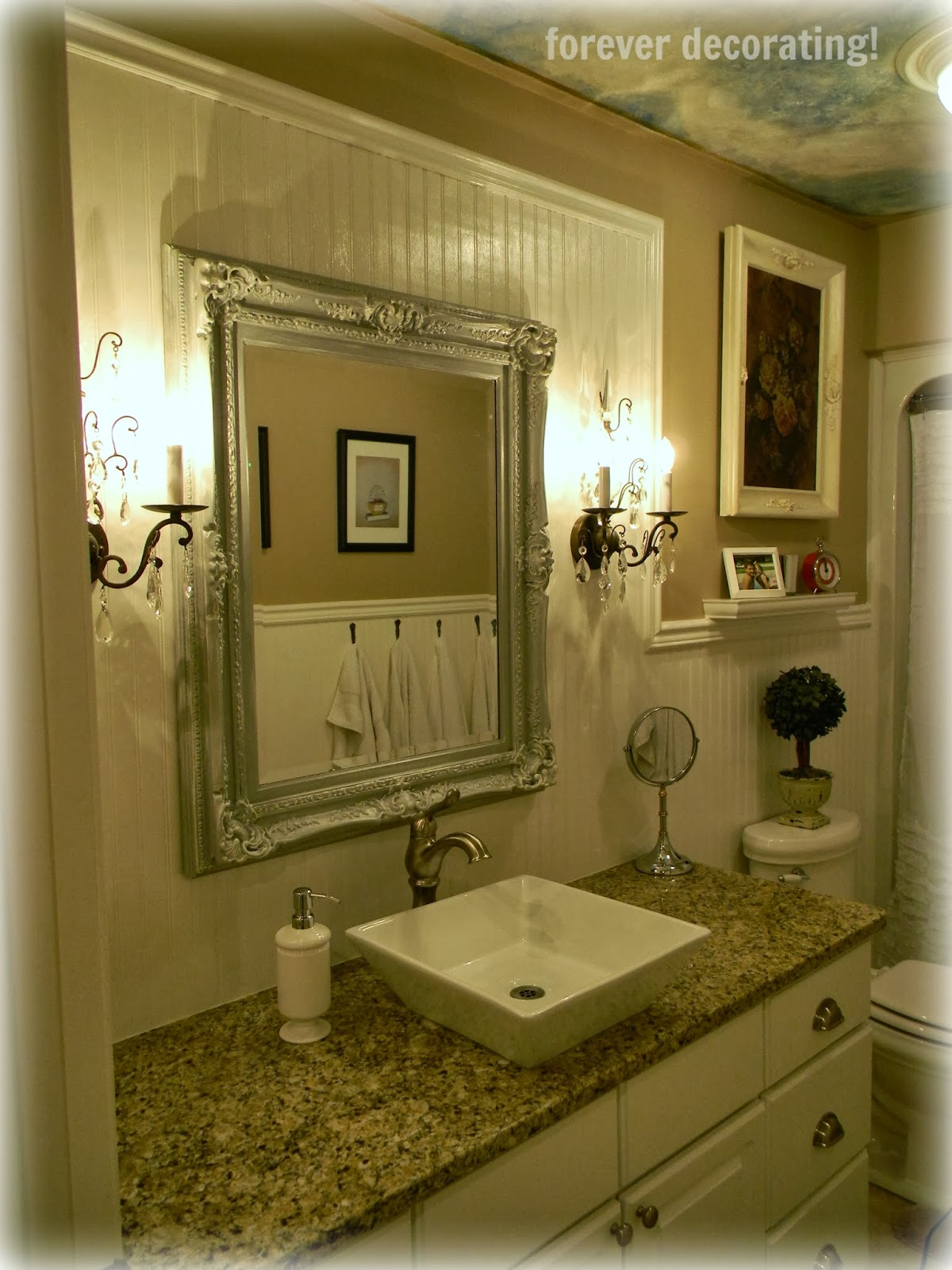 Forever decorating updated guest bathroom reveal - How to decorate a guest bathroom ...