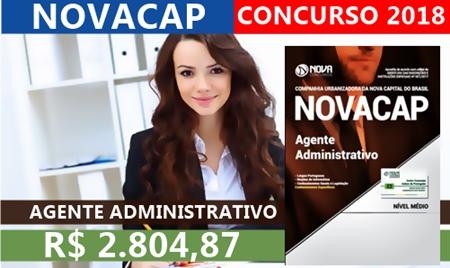 Concurso NOVACAP-DF 2018 Agente Administrativo