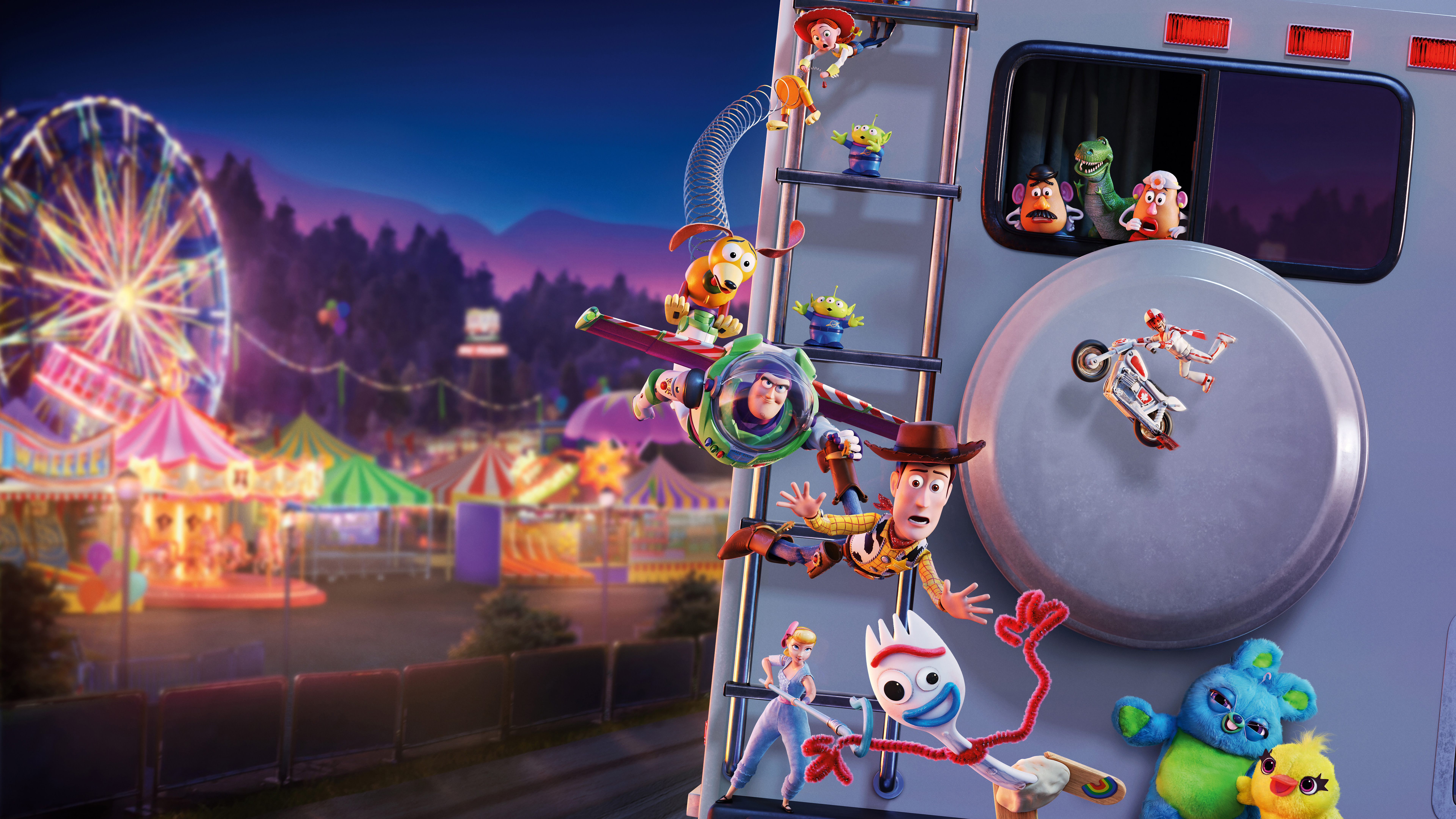Toy Story 4 Characters 8K Wallpaper #14