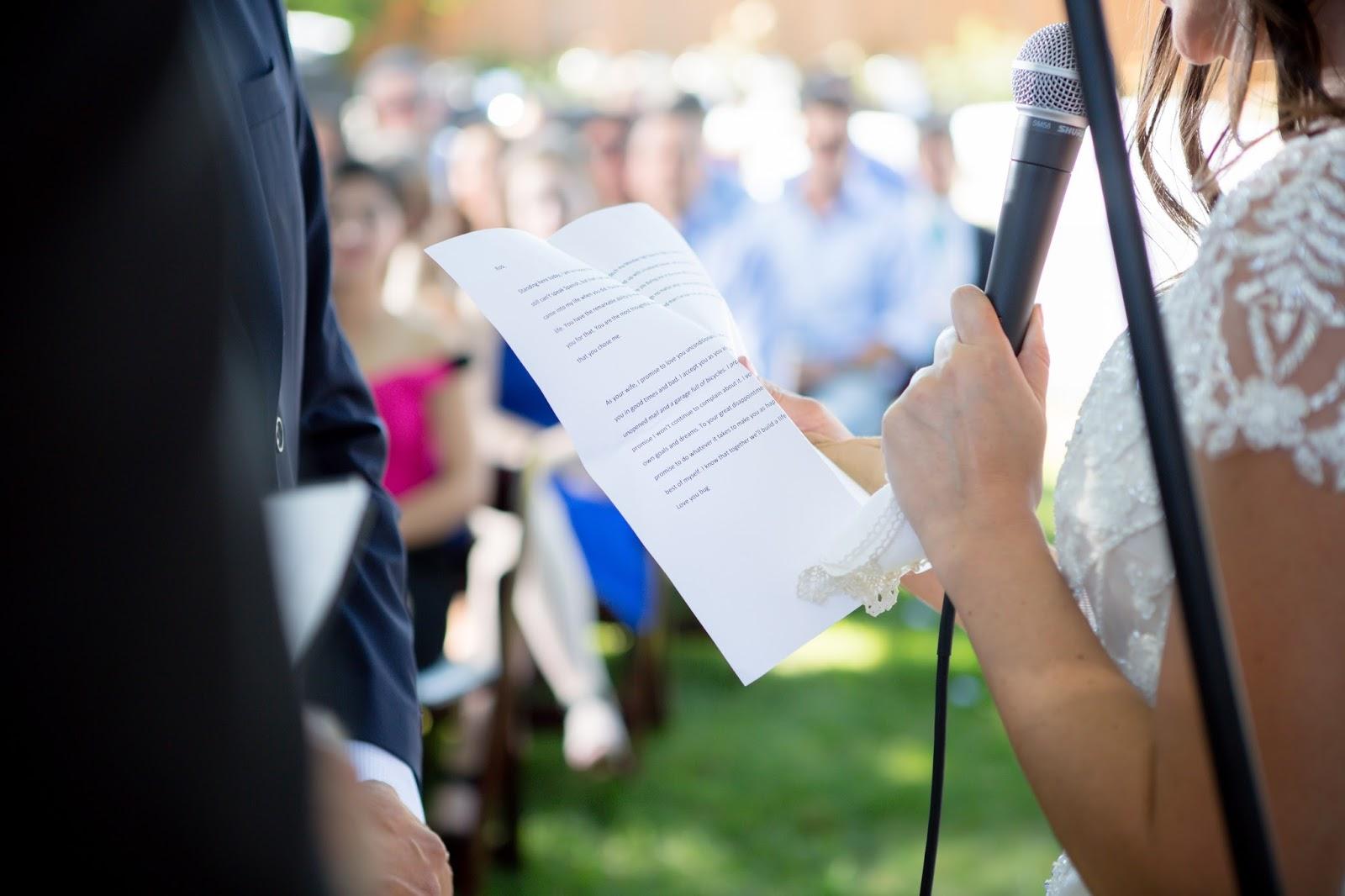 backyard wedding brides vows