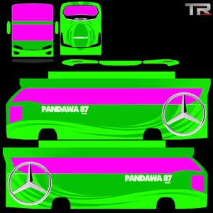 Livery Pandawa 87 Hijau Avante