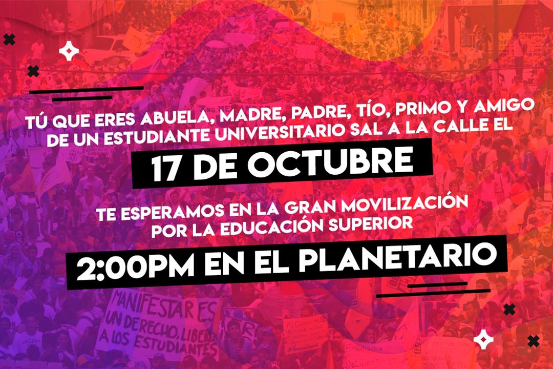 La ADE apoya la movilización estudiantil del 17 de octubre de 2018