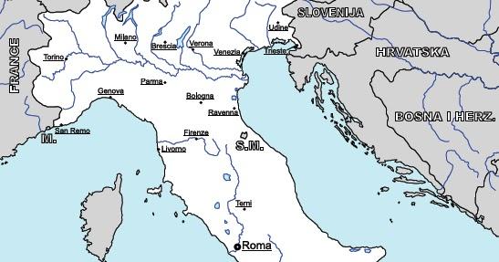 Cartina Dei Fiumi Del Nord Italia.Impariamo Insieme Cartina Geografica Dei Fiumi Italiani